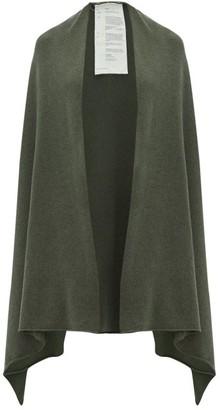 Extreme Cashmere - No.60 Raw-edge Stretch-cashmere Wrap - Womens - Khaki