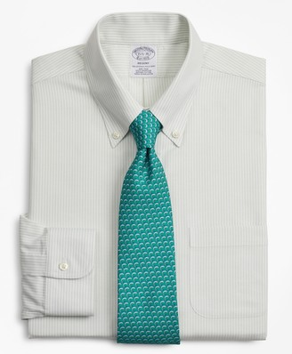 Brooks Brothers BrooksCool Regent Fitted Dress Shirt, Non-Iron Stripe