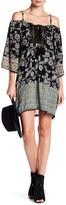 Angie Cold Shoulder Crochet Yoke Dress