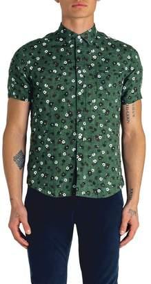 Good Man Brand Short Sleeve Floral Print Shirt