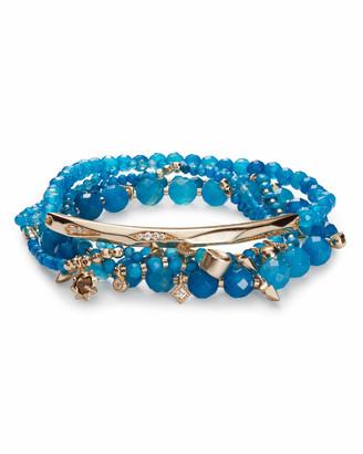 Kendra Scott Supak Beaded Bracelet Set in Gold