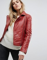 Muu Baa Muubaa Chello Leather Biker Jacket