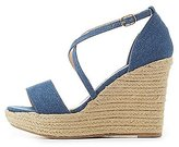 Charlotte Russe Denim Crisscross Espadrille Wedge Sandals