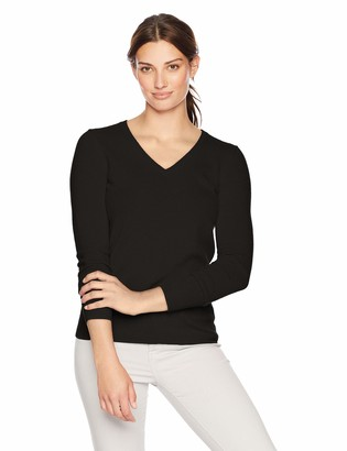 Lark & Ro Amazon Brand Women's V-Neck Pullover Cashmere Sweater