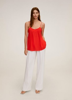 MANGO Spaghetti strap top red - XS - Women