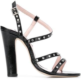 Leandra Medine Embellished Strappy Sandals