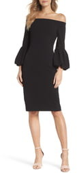 Eliza J Off the Shoulder Bell Sleeve Dress