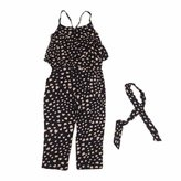 Orangeskycn Kids Girls Love Heart Straps Rompers Jumpsuits Piece Pants Clothing