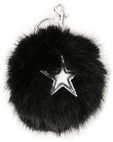 Stella McCartney faux fur star keyring