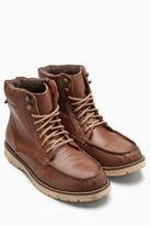 Tan Apron Hiker Leather Boot