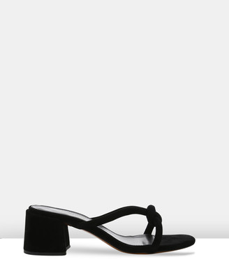 LAUREN MARINIS - Women's Black Strappy sandals - Lili - Size One Size, 38 at The Iconic