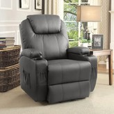 Power Reclining Heated Full Body Massage Chair Red Barrel Studio Upholstery Color: Gray