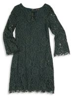 Ella Moss Girl's Embroidered Lace Dress