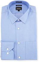 Neiman Marcus Trim-Fit Regular-Finish Dot-Print Dress Shirt, Blue