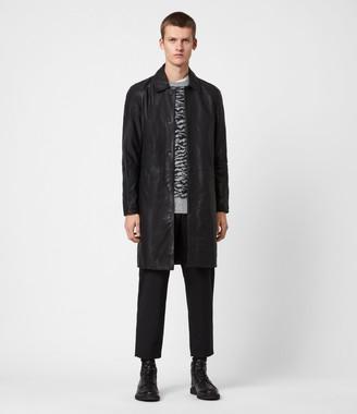 AllSaints Ireton Leather Trench Coat