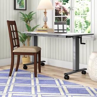 """Luxor Flip Top Crank Nesting Height Adjustable Standing Desk Size: 45.25"""" H x 59"""" W x 23.6"""" D"""