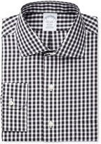 Brooks Brothers Men's Regent Classic/Regular Fit Non-Iron Black Checked Dress Shirt