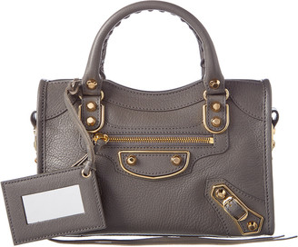 Balenciaga Classic Metallic Edge City Mini Leather Shoulder Bag