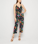 New Look Mela Floral Crop Jumpsuit