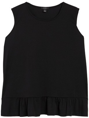 Halogen Sleeveless Peplum Top (Plus Size)