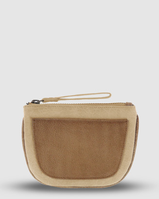 Cobb & Co - Women's Yellow Wallets - Logan Leather Half Moon Coin Purse - Size One Size at The Iconic