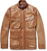 Ralph Lauren Purple Label Thornhill Burnished-Leather Field Jacket