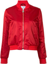 Carven zipped bomber jacket - women - Polyamide/Acetate/Viscose - 36