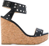 Jimmy Choo Nelly wedges - women - Leather/rubber - 36