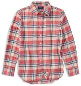 Ralph Lauren Girls' Plaid Flannel Shirt - Big Kid