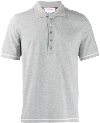 Thom Browne Side Slit Short Sleeve Polo