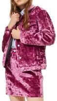 Topshop Bonded Velvet Jacket