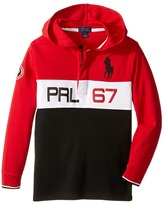 Polo Ralph Lauren Jersey Long Sleeve Hooded Rugby (Little Kids/Big Kids)