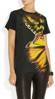 Faith Connexion Butterfly-print chiffon and cotton-jersey T-shirt