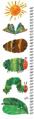 Eric Carle Caterpillar Becomes Butterfly Canvas Growth Chart