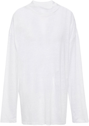 IRO Weather Slub Linen-jersey Top