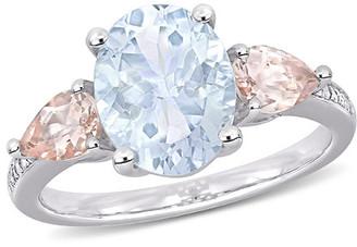 Rina Limor Fine Jewelry Silver 3.05 Ct. Tw. Diamond & Gemstone Ring