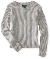 Aeropostale Womens Solid Chenille Sweater