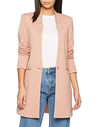 Vero Moda Women's Vmjune W/l Long Blazer Dnm Noos Plain Trenchcoat Long Sleeve Coat,8 (Manufacturer Size: )