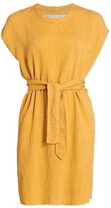 Raquel Allegra Vija Tie-Waist T-Shirt Dress