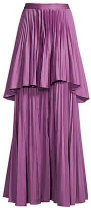 Flor Et. Al Campeche Pleated Maxi Skirt