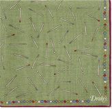 Drakes Match Stick Wool-silk Pocket Square