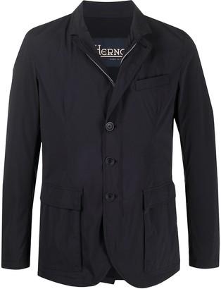 Herno Fitted Front Slit Shirt Jacket