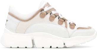 Lorena Antoniazzi Striped Lace Low-Top Sneakers