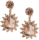Carolee Crystal & Colored Stone Drop Earrings