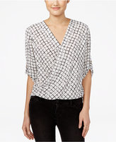 Amy Byer Juniors' High-Low Wrap Top