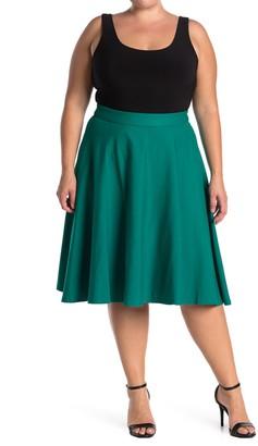 ELOQUII Ponte Circle Skirt