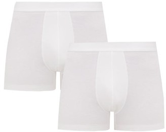 Organic Basics - Pack Of Two Silvertech Everyday Boxer Briefs - Mens - White