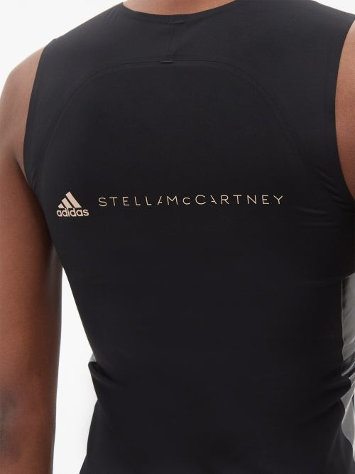 Thumbnail for your product : adidas by Stella McCartney Supportcore Recycled-fibre Tank Top - Black