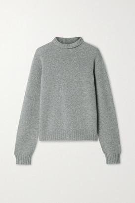 The Row Kensington Cashmere Turtleneck Sweater - Gray