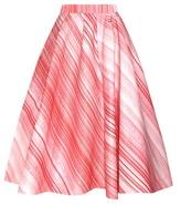 Vika Gazinskaya Striped Midi Skirt